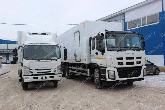 Isuzu Elf. Рефрижератор Isuzu NPS75 ELF 7.5 с ХОУ Zanotti Zero 200s, 4х4, 5 193 куб. см., 4 000 кг., 4x4