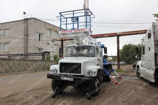 """ГАЗ 3309. Автовышка ГАЗ-33098 """"ГАЗон"""" Егерь, телескопическая,18 м. (ВИПО 18-01), 4 430куб. см., 18,00м. Под заказ"""