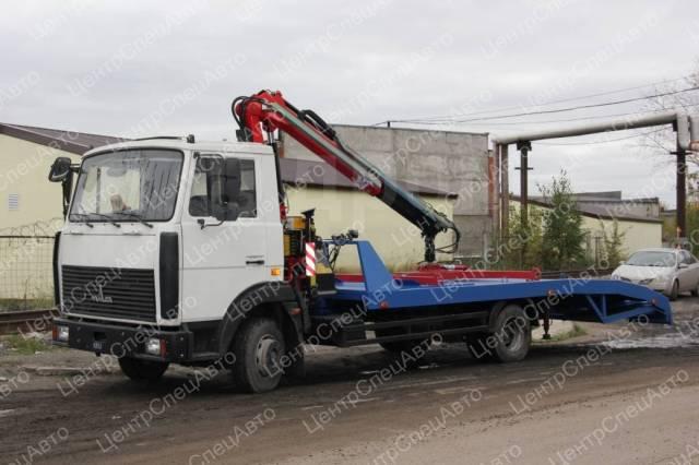 МАЗ 4371. Автоэвакуатор МАЗ-4371 с КМУ Fassi F100AT.12 с ломаной платформой, 6 400куб. см., 3 500кг., 4x2