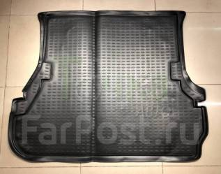Модельный коврик в багажник для Toyota Land Cruiser 100 черный