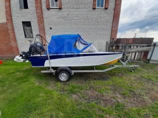 Лодка прогресс-4, мотор Yamaha 50 HETL, лодочный прицеп.