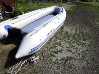 Продам лодку Солар 4.50 +мотор Меркури 25 get