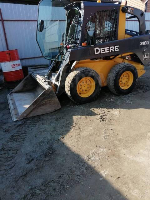 John Deere 318D. Продам минипогрузчик John Deere, 800кг., Дизельный, 0,50куб. м.