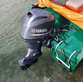 Лодочный мотор Yamaha F70, 2013 года.