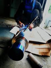 Ремонт глушителя, гофры, банки глушителя, установка пламегасителя