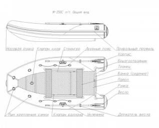 Лодка надувная ПВХ Фрегат М-350