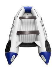 Надувная лодка ПВХ, Адмирал-350 НДНД, светло-серый/синий