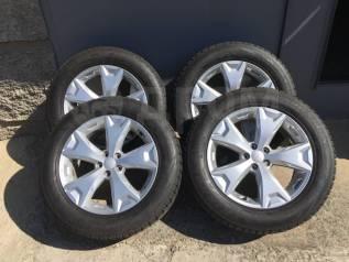 Литые диски Subaru с зимними шинами
