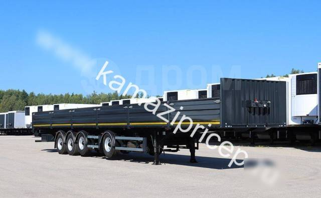 Тонар. Полуприцеп бортовой B4-16V/VK, 4 оси, 2 оси подъемные, 16,5 м, 28 200кг.