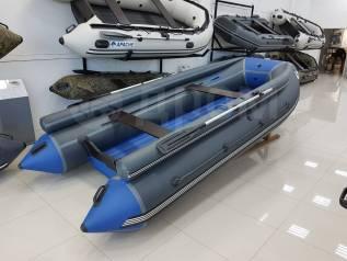 Надувная лодка ПВХ ORCA 400F НДНД с фальшбортами, темно-серый/синий
