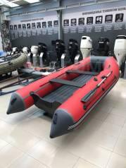Лодка ПВХ ORCA 420 НДНД, красный/черный