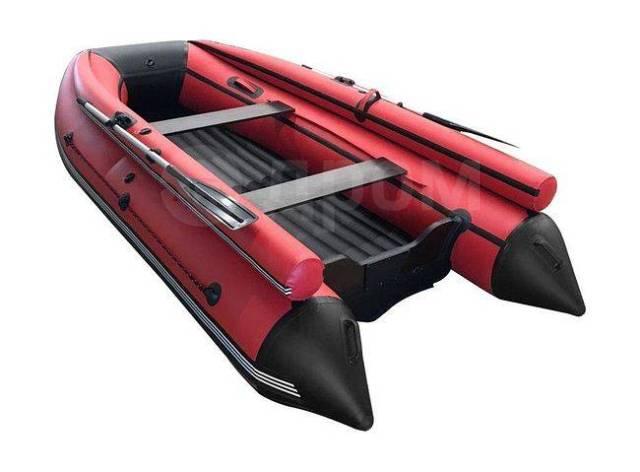 Лодка ПВХ ORCA 400F НДНД с фальшбортами, темно-серый/красный. 2020 год, длина 3,60м., двигатель без двигателя