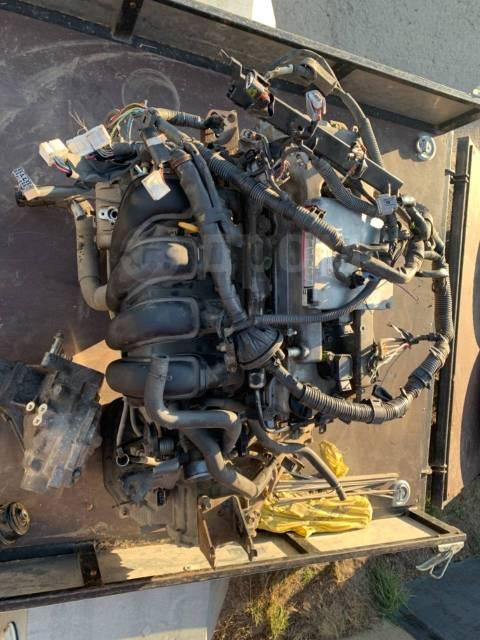 Двигатель 1zz-fe в сборе с коробкой и навесным