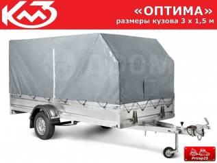 """Прицеп """"Оптима"""" кузов 3х1,5 м (тент 1,5м)"""