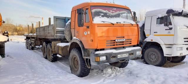 КамАЗ 44108. Продается седельный тягач -10 с Полуприцепом ТСП 9417, 10 850куб. см., 19 700кг., 6x6