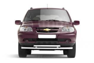 Защита переднего бампера двойная 63/51 мм Chevrolet NIVA с 2009