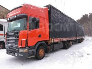 Авторазбор. Scania 144L. DSC 1415. с прицепом тандем