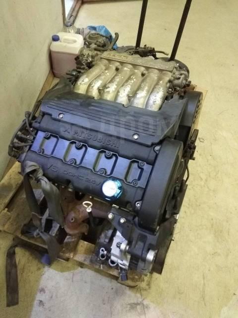 Двигатель в сборе. Mitsubishi Debonair, S27A 6G74