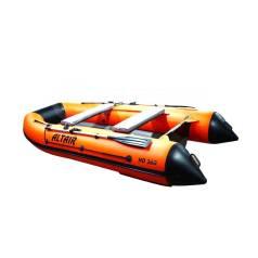 Лодка надувная моторная Altair HD360 с НДНД оранжевый/серый
