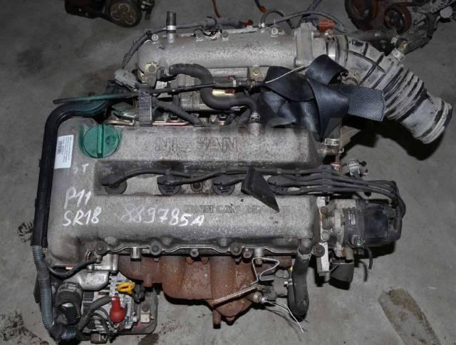 Двигатель в сборе. Nissan Bluebird, EU14 Nissan Presea, PR11 Nissan Primera, P11, P11E SR18DE