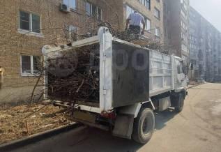 Вывоз веток, строительного мусора, грунта. Услуги самосвала