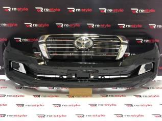 Бампер передний Toyota Land Cruiser (J200) 07-15 год стиль 15+ черный