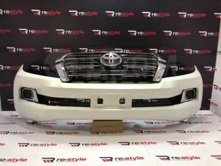 Бампер передний Toyota Land Cruiser (J200) 07-15 год стиль 15+ белый
