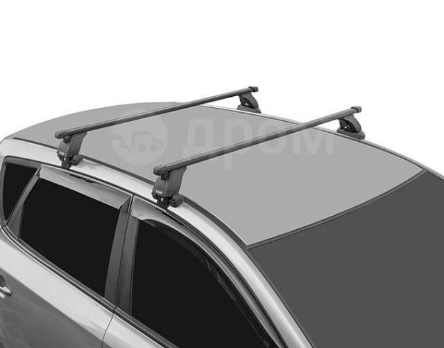 Багажник на крышу Volkswagen Polo 2010-2019 г. СЕДАН! (перекладины Квадрат 1,2 метра)