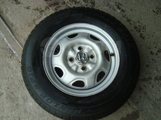 "Летнее колесо Dunlop 165 S R13 + диск 4х100 Honda 1шт. 5.0x13"" 4x100.00 ET45 ЦО 56,1мм."