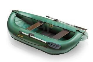Лодка надувная гребная Leader Компакт 260 зелёный 2,6м