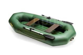 Лодка надувная гребная Leader Компакт 270НДНД зелёный 2,7м