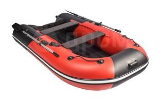Надувная лодка ПВХ, Ривьера Компакт 3200 НДНД Комби, красный/черный