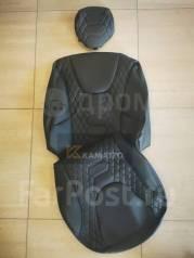 Модельные штатные чехлы Honda Freed (Экокожа) черные