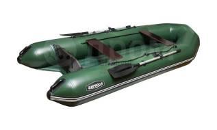 """Лодка ПВХ """"Бирюса-305"""" надувное дно"""