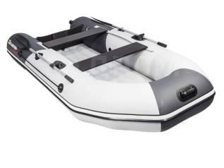 Надувная лодка ПВХ, Таймень NX 3600 НДНД PRO, светло-серый/графит