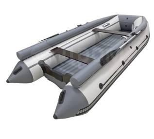 Надувная лодка ПВХ, ORCA 400F НДНД, фальшборт, светло-серый/темно-серы