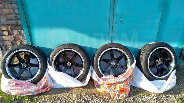 Диски Volk Racing TE37 SL R18 8J ET40 5x114,3 с полкой с шинами TOYO