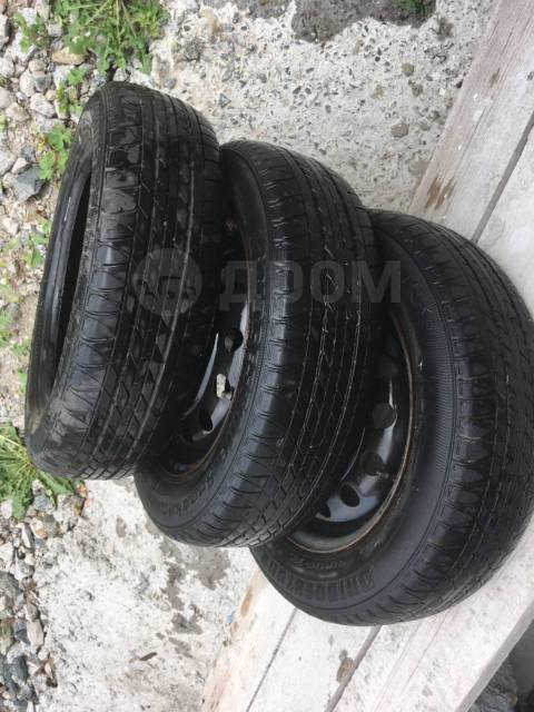 "Колеса комплект 3 шт. б/у авто Bridgestone на дисках жел.155/65/13. x13"""