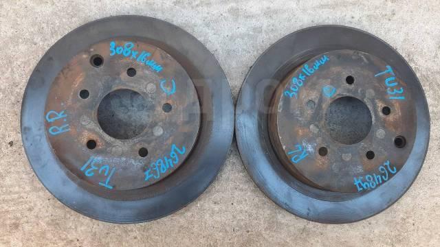 Тормозные диски задние (ПАРА 308х16мм) на Nissan Presage TU31 43206-CN000