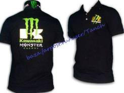Рубашка поло Kawasaki Monster Energy +отправка! +