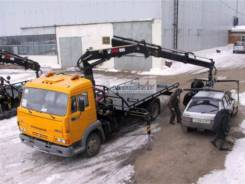 Автоэвакуатор с КМУ HIAB 111 BS-1 DUO на КамАЗ 4308