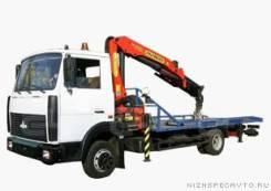 Автоэвакуатор МАЗ 4370 со сдвижной платформой и КМУ ( Fassi)
