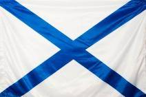 Флаг Андреевский (на флагшток) №6 на катер 45х30