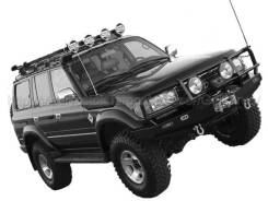 Шноркель Toyota Land Cruiser 80 / Lexus LX450 с 90-98г (материал Lldpe