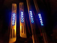 Накладки на порог с подсветкой Toyota Land Cruiser Prado 120