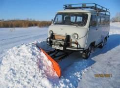 Навесное оорудование для уаз отвал (лопата для чистки снега)