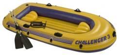 Новая 3-х местная надувная лодка с веслами . Intex Challenger-3