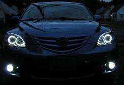 Ангельские глазки CCFL на Mazda Axela (3)