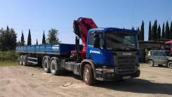 Scania с манипулятором + спец. полуприцеп, 2009