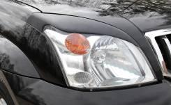 Накладка на фару. Toyota Land Cruiser Prado, GRJ120W, GRJ121W, KDJ120W, KDJ121W, KDJ125W, RZJ120W, RZJ125W, SUV, TRJ120W, TRJ125W, VZJ120W, VZJ121W, V...